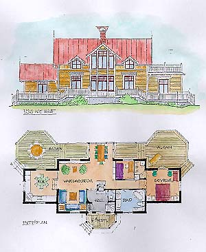 Villa Lillsved 1:14 av Glockgruppen arkitekter AB.
