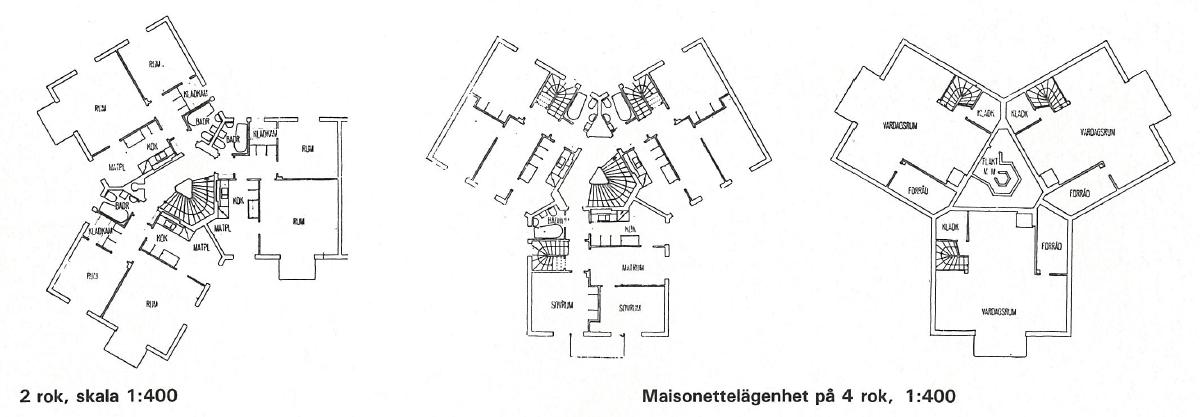 Backström & Reinius ikoniska stjärnhus. Ur tidskriften Arkitektur