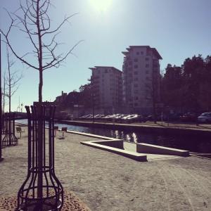 Ny, landskapsintegrerad och tillgänglighetsanpassad ramp i Å-rummet, Karlshamn
