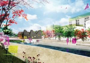 Karlshamns kommun & Metroarkitekter och Atkins: Fördjupningsstudie av centrala Å-rummet i Karlshamn