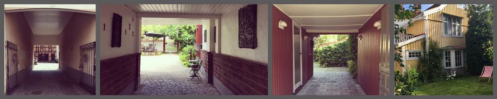 Portar till stadens många steniga och lummiga innergårdar. Foto och collage: Emina Kovacic