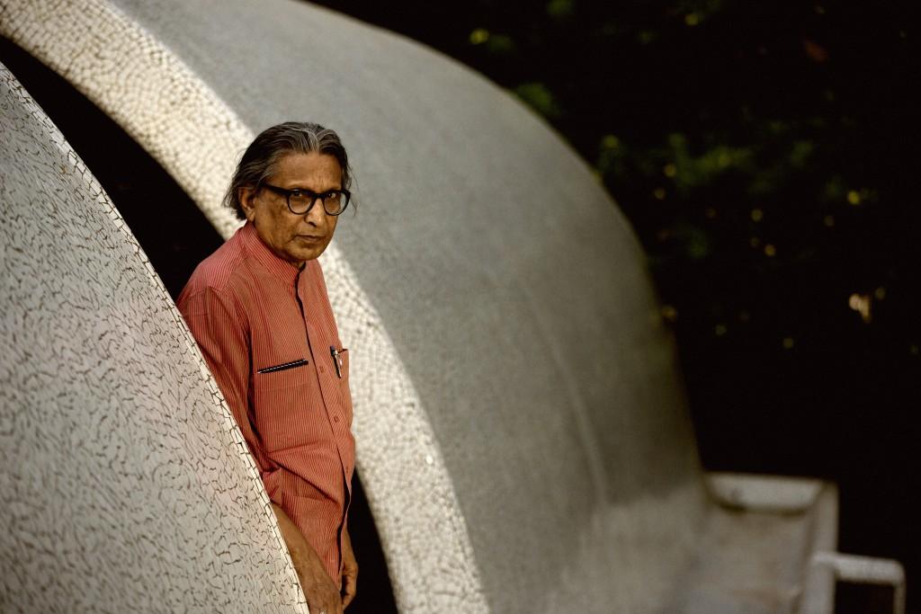 Balkrishna Doshi, arkitekt född i Pune, Indien, 1927. Foto: Vinay Panjwani