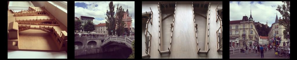 Gång- och cykelbron Tromostovje. Foto: Emina Kovacic