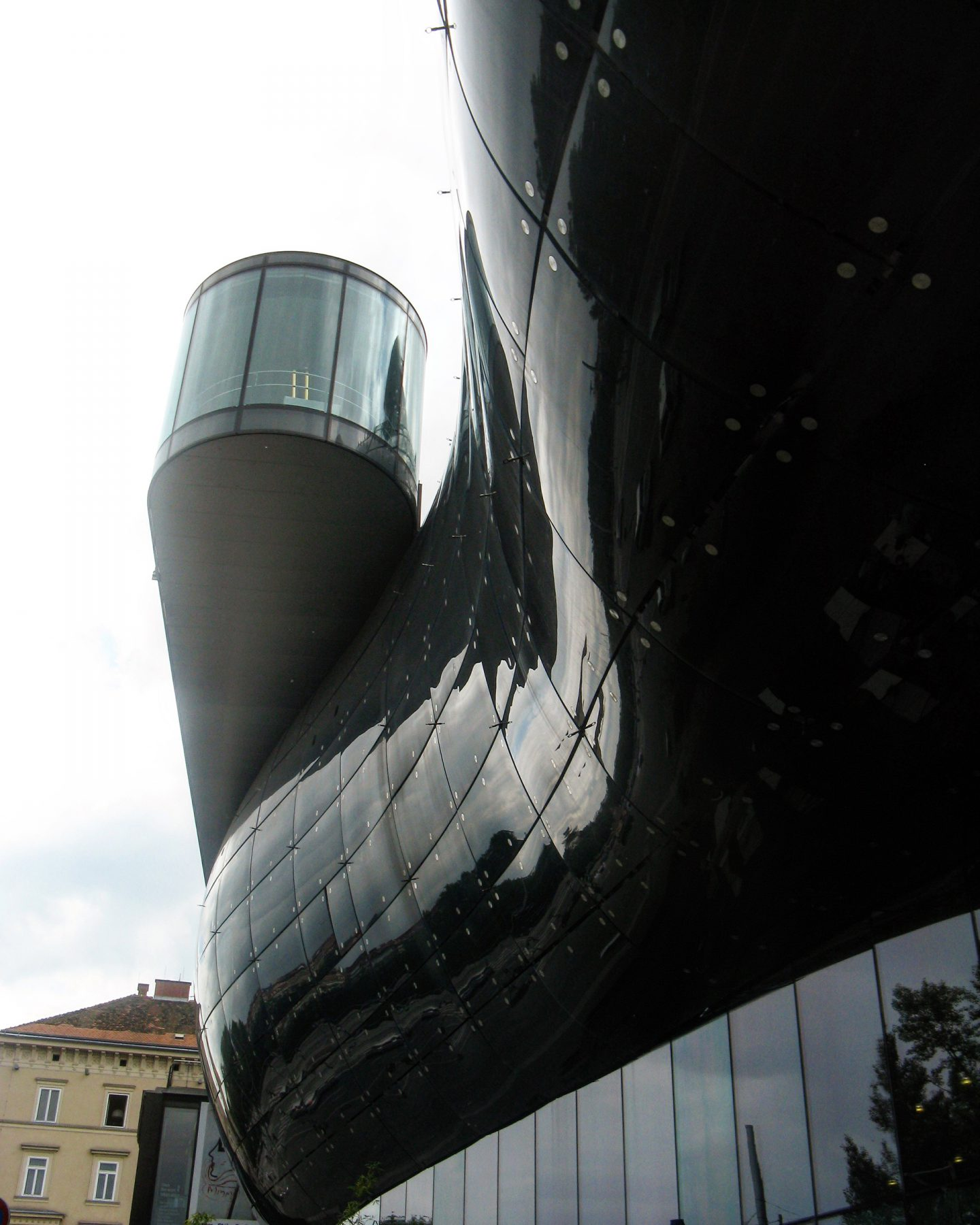 Arkitektur konstmuseum eller vanlig utomjording