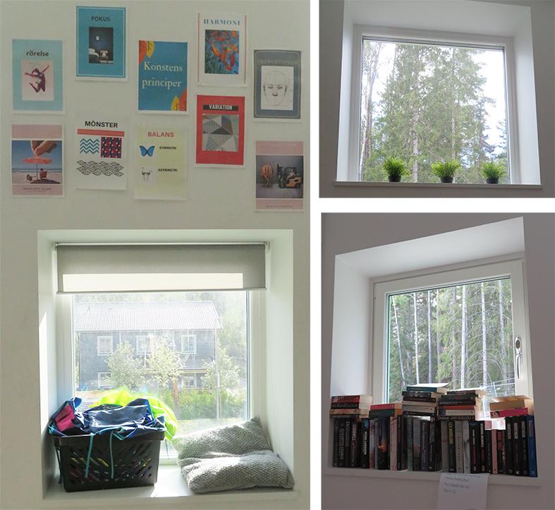 Fönsternischerna kan användas på olika sätt.