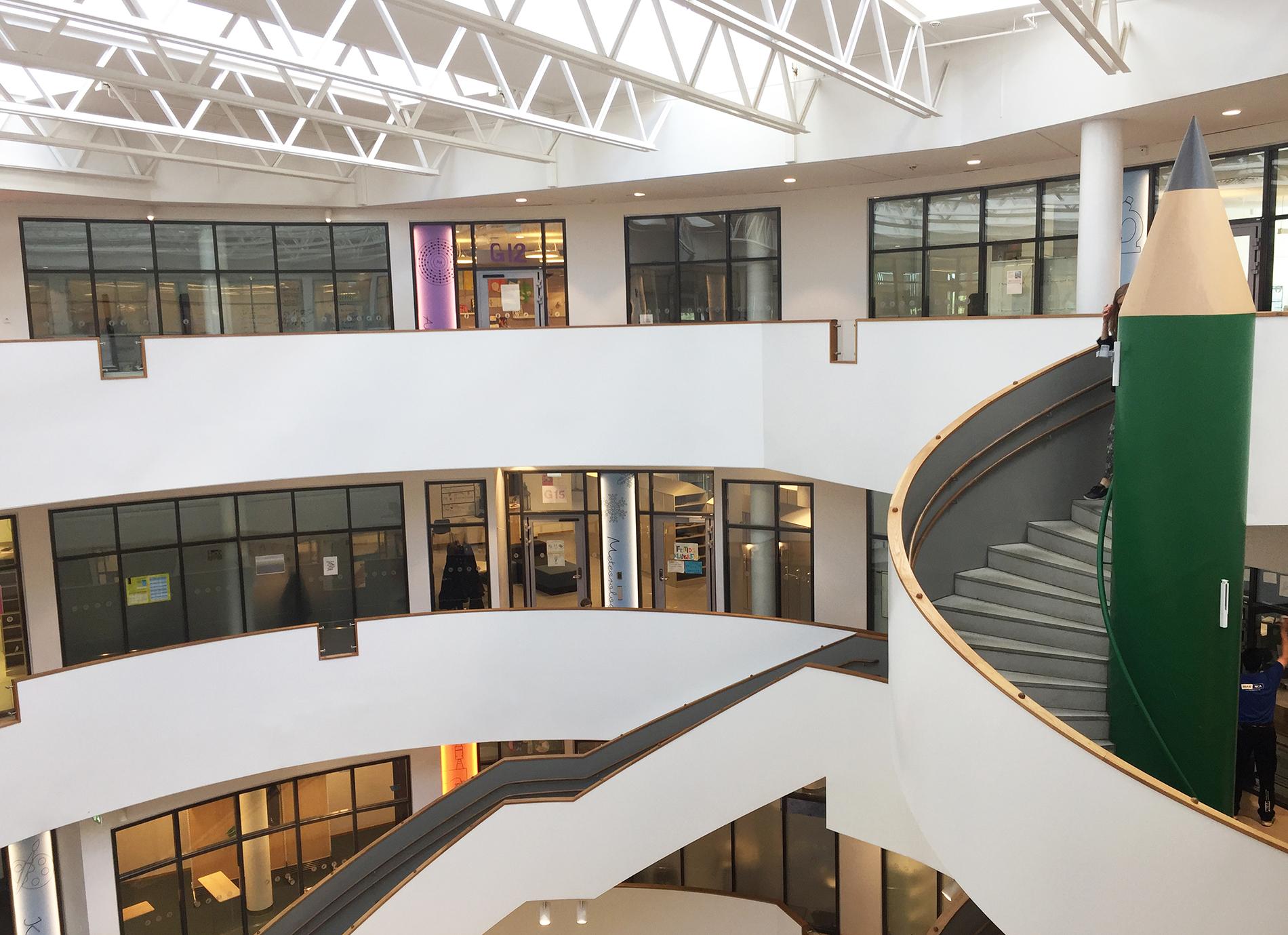 Trapphuset är utformad som en rotunda. Foto: Elisabeth Lundgren
