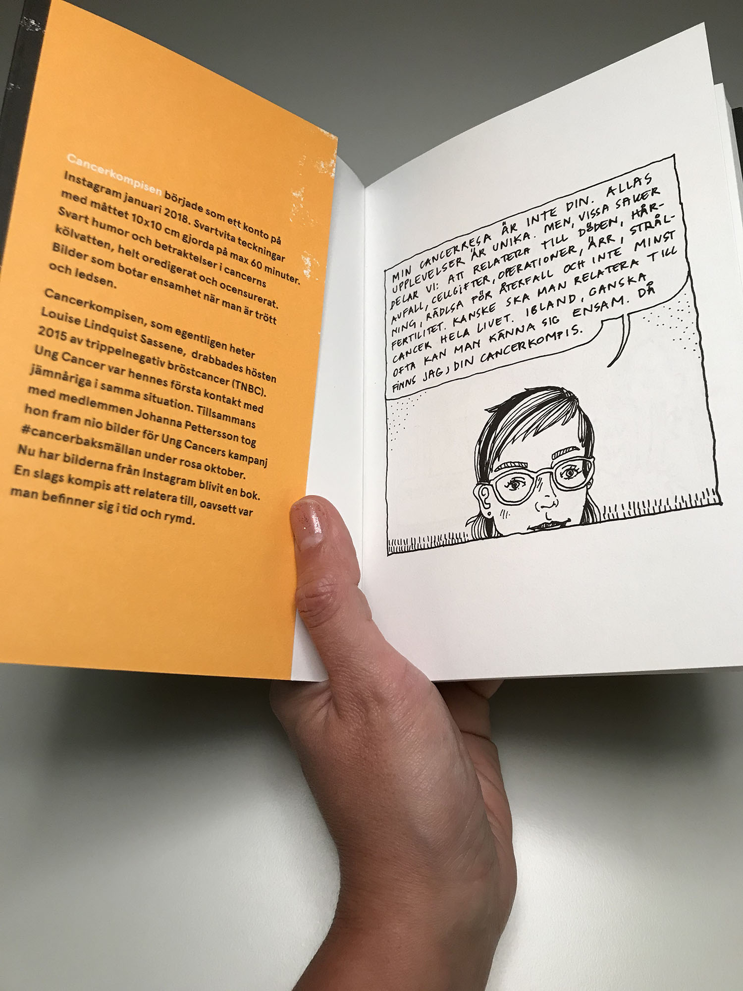 """Boken """"Jag, din cancerkompis"""" släpps på Världscancerdagen nästa år. Ung Cancer är utgivare."""