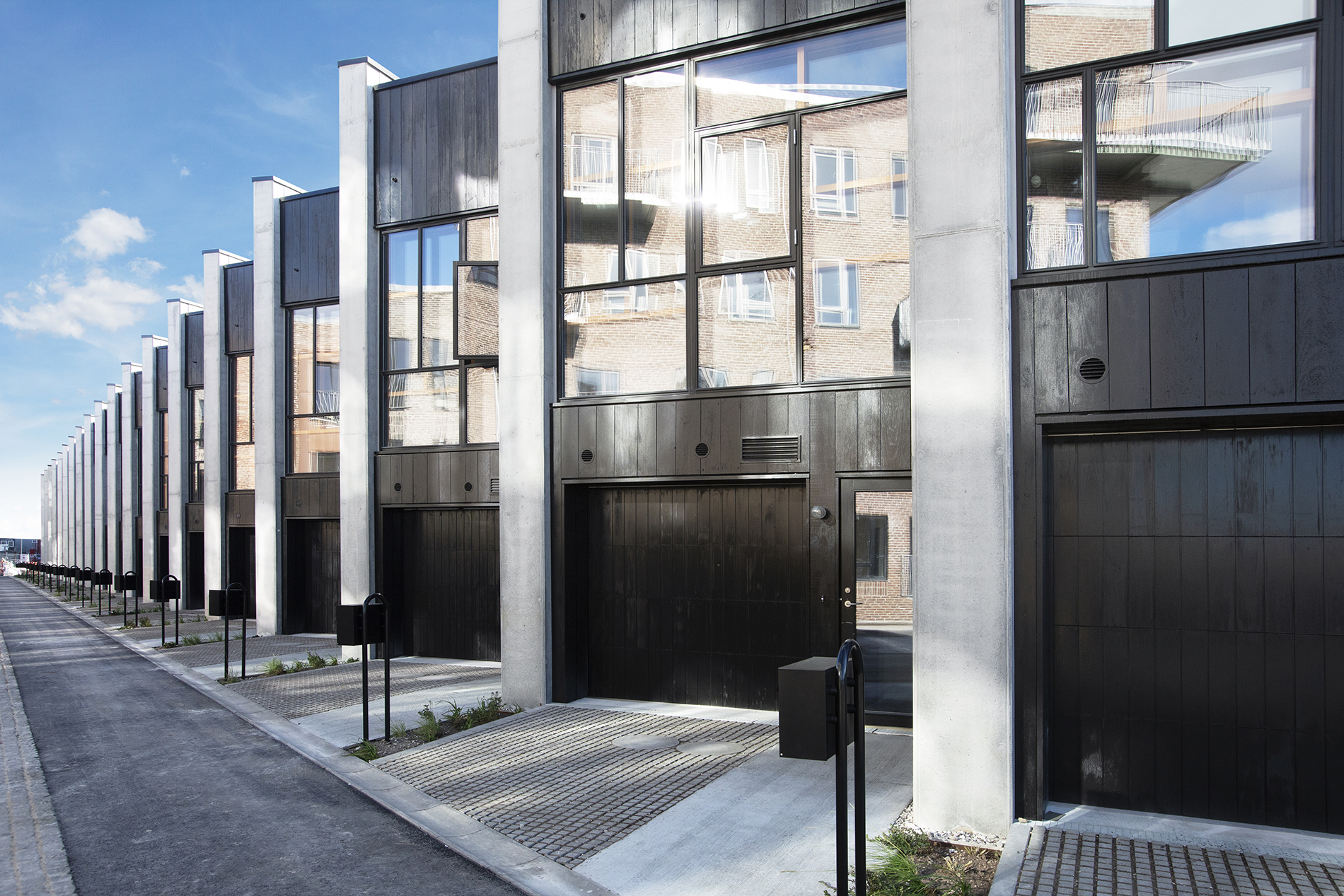 Återvunnen betong är en av miljövinsterna i Lendager Groups bostadsprojekt Upcycle Studios. Foto: Mikkel Strange