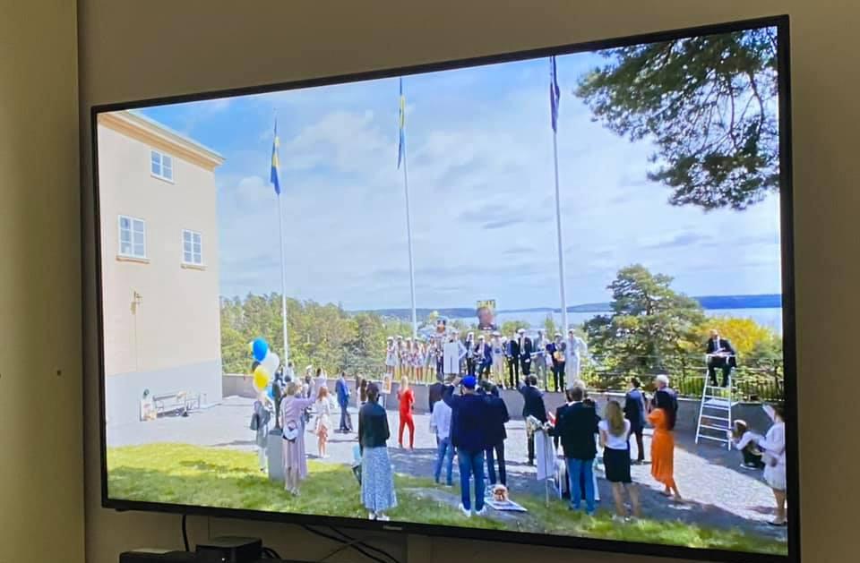 Avslutning på distans: Bilden är från min vän Ulrika vars son tog studenten förra veckan. Foto: Ulrika Lindqvist Egnér