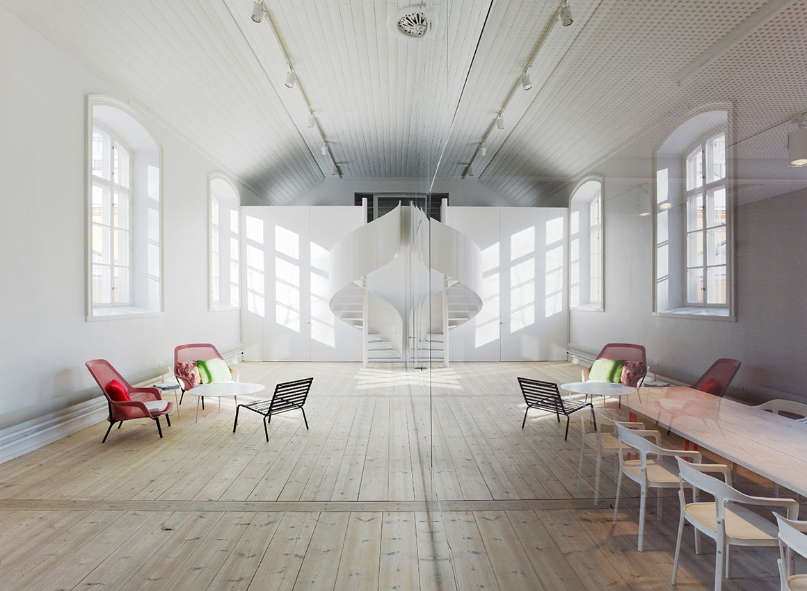 No Picnic, kontor i Stockholm av ansvariga arkitekter Johan Oscarson, Jonas Elding och Gustaf Karlsson. Foto: Åke E:son Lindman.