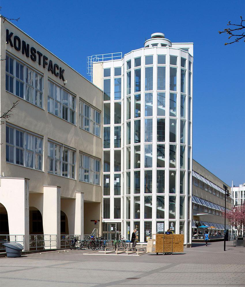 Konstfack vid Telefonplan i Stockholm. Foto: Hironori Tsukue.