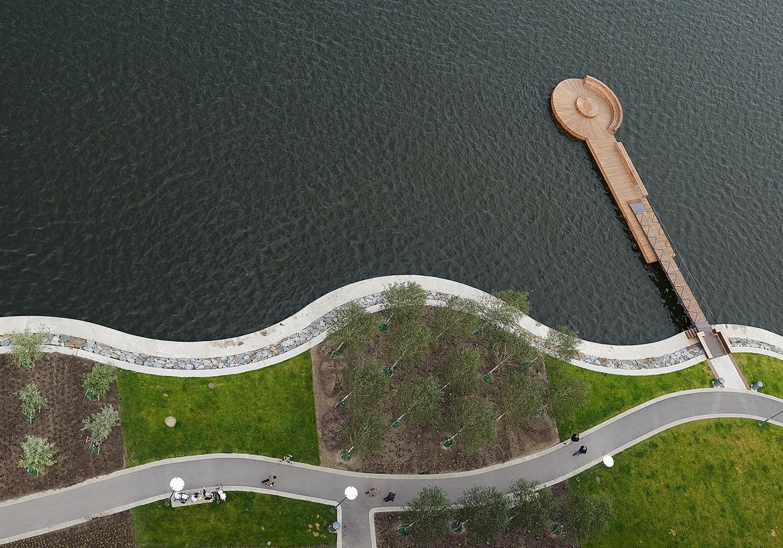 Hornsbergs Strandpark i Stockholm fick Sienapriset 2012. Ansvarig landskapsarkitekt: Bengt Isling, Nyréns. Fotograf: Åke E:son Lindman.