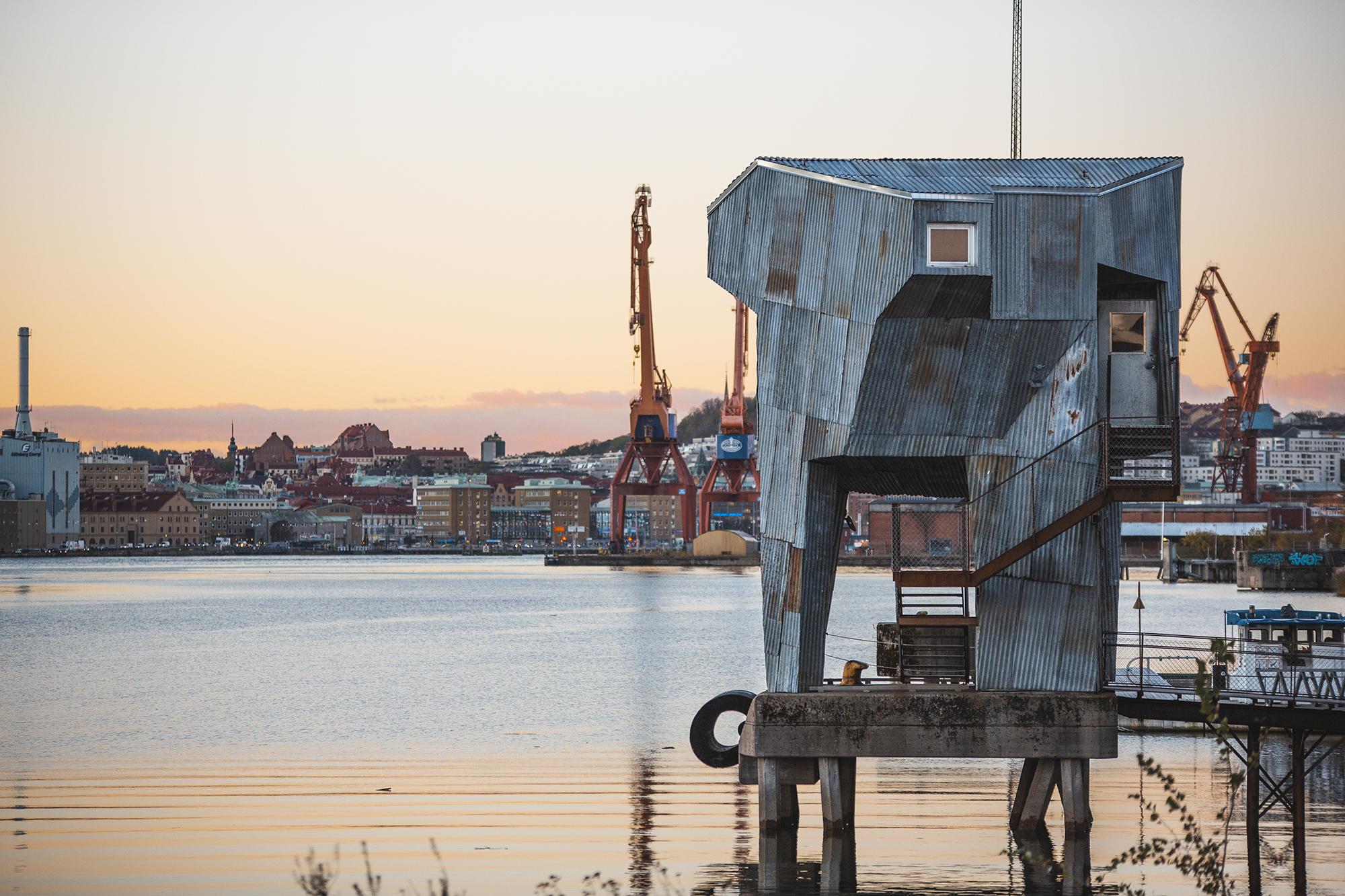 Allmänna bastun i Jubileumsparken. Foto: Peter Kvarnström.