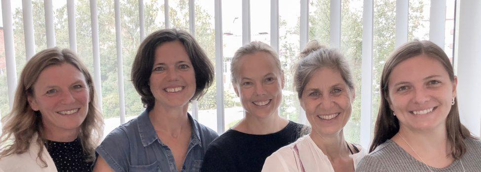 Styrelsen för Sveriges Arkitekter Mellersta Norrland: Helena Wahlberg, Pia Glaumann, Anna Axling, Louise Andrén och Amy Åkerlund.