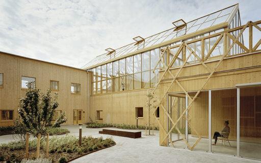Vård- och omsorgsboendet Trädgårdarna av Marge Arkitekter är en av vinnarna i Vårdbyggnadspriset 2019. Foto: Johan Fowelin.