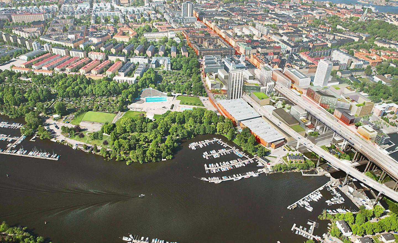 Skanstull i Stockholm. Foto: Stockholms stadsbyggnadskontor.