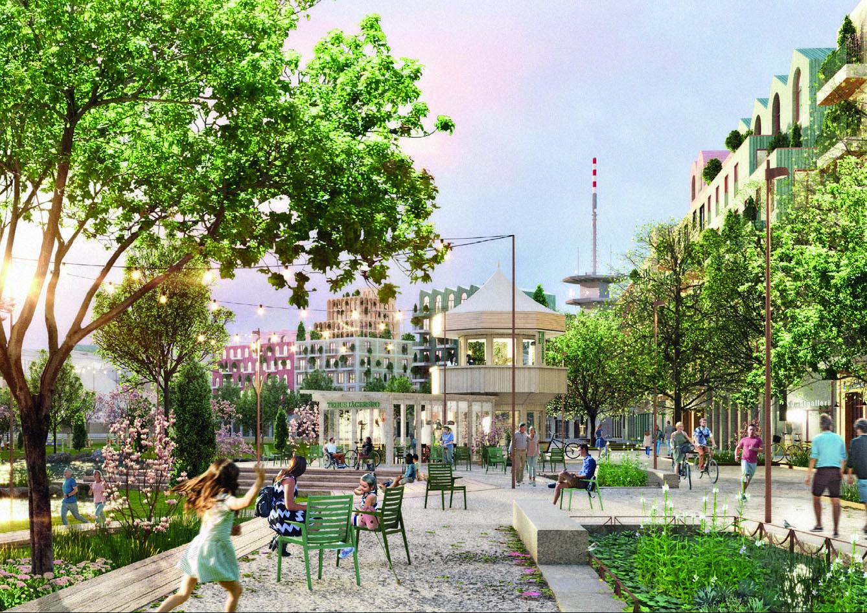 Fojabs förslag till ny stadsdel på Jägersro.