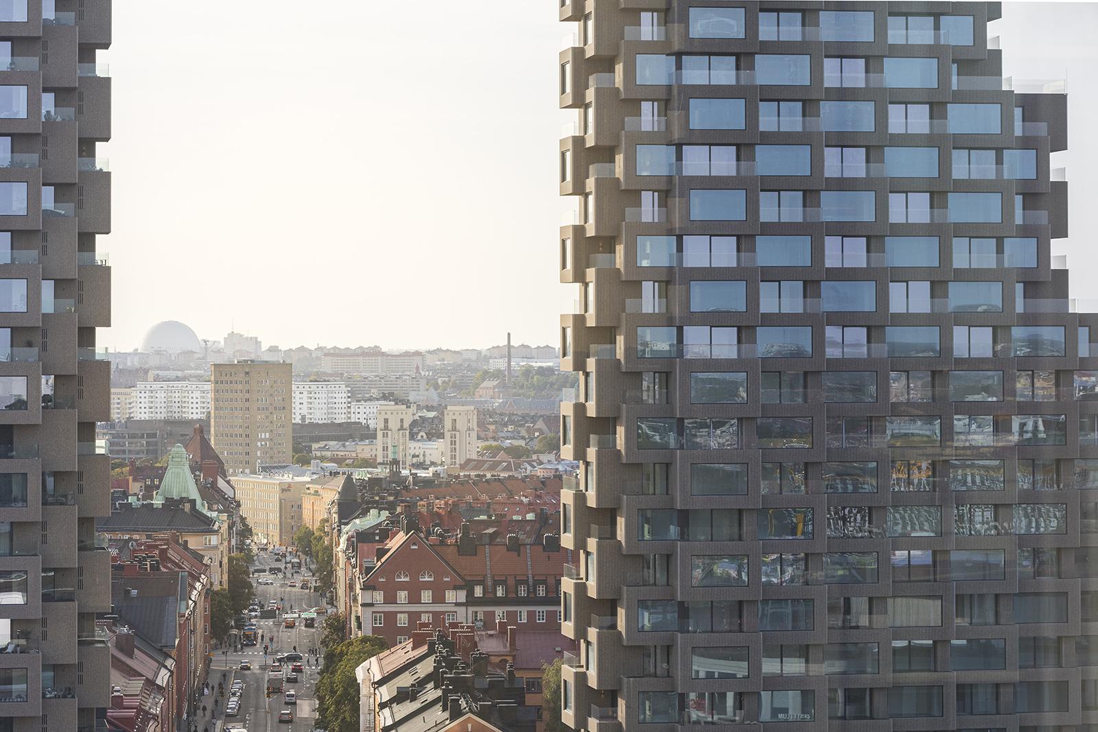 Norra Tornen i Stockholm, exempel på arkitektur som inte anknyter till platsen
