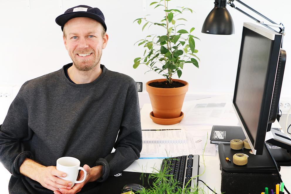 Landskapsarkitekten och tillika landskapsingenjören Johannes Josefsson, LAR/MSA, Mareld landskapsarkitekter. Foto: Charlotte Sellbrandt.